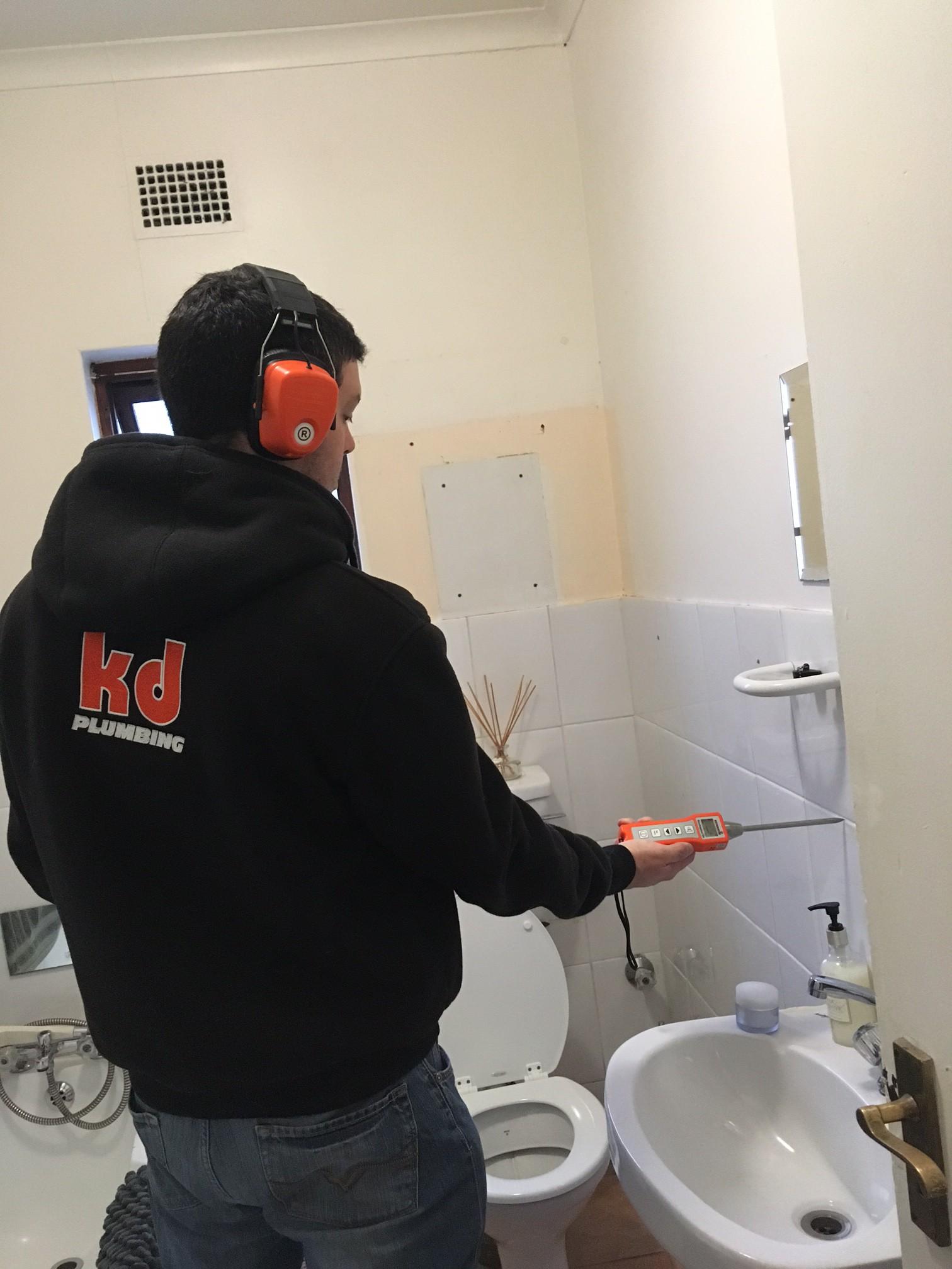 Leak Detection KD Plumbing - Bathroom leak detection